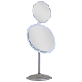 ZADRO 7X / 5X Dual Mirror Satin Nickel Vanity Mirror MA47