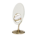 ZADRO 8X / 3X / 1X Tri Optics Brass Vanity Mirror OVL57