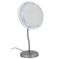 ZADRO Surround Light 5X Satin Nickel S-Neck Vanity Mirror SL45