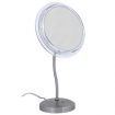 ZADRO Surround Light 7X Satin Nickel S-Neck Vanity Mirror SL47