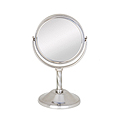 ZADRO 3X / 1X Swivel Satin Nickel Vanity Mirror VAN43