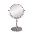 ZADRO 5X / 1X Swivel Satin Nickel Vanity Mirror VAN45