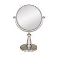 ZADRO 8X / 1X Swivel Satin Nickel Vanity Mirror VAN48