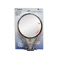 ZADRO 5X-1X Lighted Adjustable Magnification Satin Nickel Fogless Mirror Z600SN