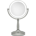 ZADRO LED Lighted 10X Vanity Mirror in Stain Nickel LEDMV410