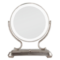 ZADRO Polished Nickel Surround Light Dual Sided Glamour 5x / 1x Magnification Mirror GLA75