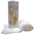 AQUIS Mimi S Diva Dryer Hair Towel White  BRI601