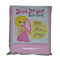 AQUIS ESSENTIALS Mimis Diva Dryer Hair Towel Pink BRI1153