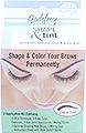GODEFROY Shape and Tint Permanent Eyebrow Color and Shaping Kit MEDIUM BROWN 3 Applications