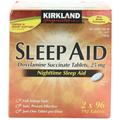 KIRKLAND Signiture Sleep Aid 25 mg Doxylamine Succinate Tablets  (2 X 96)