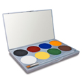 Mehron Paradise Makeup AQ Face & Body Paint 8-Color Palette (Basic)