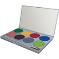MEHRON Face Paint Palette w / 8 Colors Tropical Rainbow