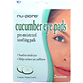 NU-PORE Cucumber Eye Pads Pre Moistened Soothing Pads Soothes Tired Eyes & Helps Reduce Eye Puffiness with Vitamin E & Vitamin C Quantity: 2 Pads