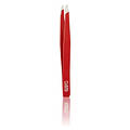 RUBIS 3-3/4 Inch Slanted Tip Tweezer Red  R1K106