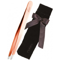 RUBIS 3-3 / 4 Inch Rose Gold Limited Edition Slanted Tip Tweezer MC1030RG