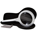 ZADRO 12 LED Lighted Handheld Magnifier 2.5 X W / 5X Inset Spot Lens MAG12