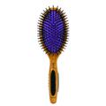 BASS Nylon Bristles Purple Oval Paddle Brush BSS22P
