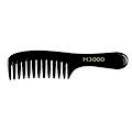 HAIRART H3000 Large Comb Out Ceramic Carbon Comb  H30023