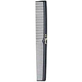 KREST COMBS Cleopatra Series 7 inch Flat Back Styler Comb Black Pack of 12 410