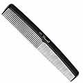 KREST COMBS Cleopatra Series 7 inch Round Back Finger Waver Comb Black Pack of 12  415