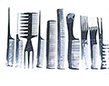 HAIRART 10 pc Comb Set in Dark Grey 6133