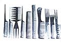 HAIRART 10 pc Comb Set in Dark Grey 6133