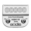 """ANDIS Ultra Edge Stainless-Steel Blade Size 00000 SS 1 / 125""""-0.2mm  64740"""