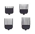 WAHL Professional Attachment Combs Set Black 6 Pcs of each size 3165