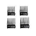 WAHL Professional Metal Clip Attachment Combs Set Black 3160