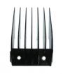WAHL Professional Metal Clip Comb Attachment Black Size No.8 1 inch 3150