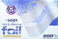 SANEK See-Thru Foil Embossed Sheets Contains: 200 Ft. Roll