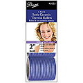 DIANE Ionic Ceramic Self-Grip Thermal Roller 2 inch Blue 3-Pack  5025