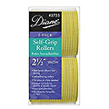 DIANE Self-Grip Rollers 2 1 / 2 inch Yellow 2-Pack 3725