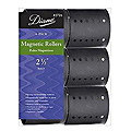 DIANE Magnetic Roller 2 1/2 inch Black 6-Pack 2726