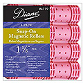 DIANE Snap-On Magnetic Roller 1 1/8 inch Pink 8-Pack 4719