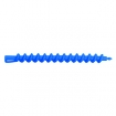 HAIRART 6 Inch Clockwise Spiral Rods Small Blue (Pack of 12) 115