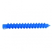 HAIRART 4 1 / 3 Inch Clockwise Spiral Rods Medium Blue 116