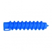 HAIRART 3 5 / 8 Inch Clockwise Spiral Rods Large Blue (Pack of 12) 117
