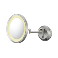 KIMBALL & YOUNG Single-Sided LED Round Wall Mirror Polished Nickel 92485HW