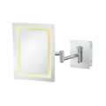 KIMBALL & YOUNG Single-Sided LED Rectangle Wall Mirror Polished Nickel 92983HW