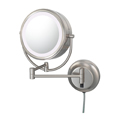 KIMBALL & YOUNG Neo Modern Double-Sided LED Lighted Mirror Brushed Nickel 92575