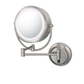 KIMBALL & YOUNG Neo Modern Double-Sided LED Lighted Mirror Hardwired Brushed Nickel 92575HW