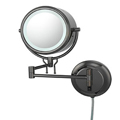 KIMBALL & YOUNG Double-Sided Fluorescent Lighted Contemporary Wall Mirror Black Nickel 91405
