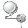 KIMBALL & YOUNG Double-Sided Fluorescent Lighted Contemporary Wall Mirror Chrome 91445