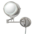 KIMBALL & YOUNG Double-Sided Fluorescent Lighted Contemporary Wall Mirror Brushed Nickel 91475