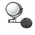 KIMBALL & YOUNG Double-Sided Fluorescent Lighted Contemporary Wall Mirror Hardwired Black Nickel 91405HW