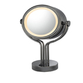 KIMBALL & YOUNG Contemporary Four Post Lighted Vanity Mirror Black Nickel 71405