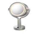 KIMBALL & YOUNG Contemporary Four Post Lighted Vanity Mirror Chrome 71445