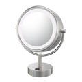 KIMBALL & YOUNG Neo Modern LED Lighted Vanity Mirror Brushed Nickel 72575