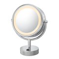 KIMBALL & YOUNG Neo Modern LED Lighted Vanity Mirror Polished Nickel 72585